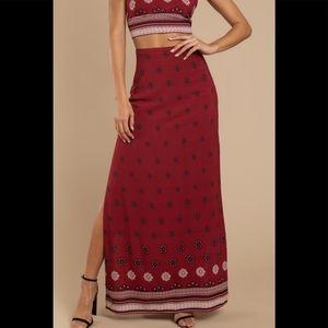 NWT Tobi Red Maxi Skirt